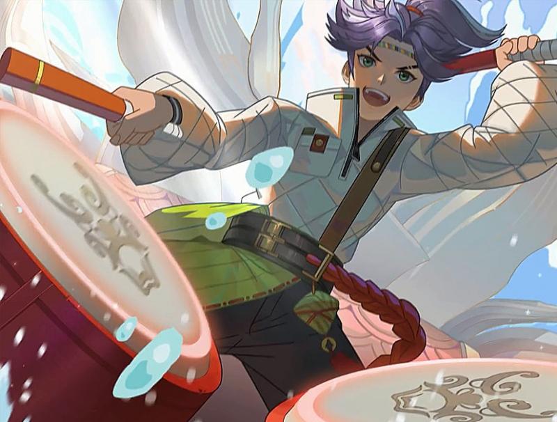 蒙犽新史诗刚官宣王昭君七夕皮肤曝光紫发和牵牛花超美李白玩家狂喜
